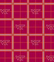 "Virginia Tech Hokies Flannel Fabric 42""-Plaid, , hi-res"