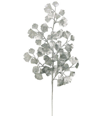 "27"" Gingko Spray-Silver"