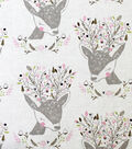 Novelty Cotton Fabric 44\u0022-Deer Portrait