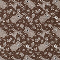 Super Snuggle Flannel Fabric-Animals Tossed Gray