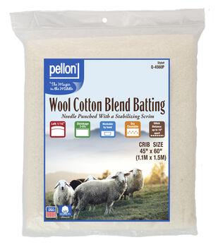 Pellon 50/50 Wool Blend Batting-Crib