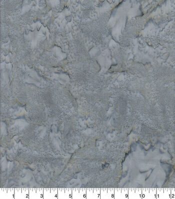 Cotton Fabric 44''-Dark Gray Tonal Batik