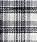 Perfectly Plaid Fabric 50\u0022-White, Black & Gray