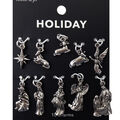 hildie & jo Holiday Charms-Silver Nativity