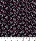 Keepsake Calico Cotton Fabric-Calico Floral Black
