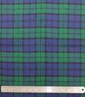 Plaiditudes Brushed Cotton Fabric-Navy 7 Green Blackwatch Plaid