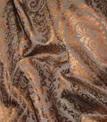 Waverly Upholstery Fabric 54\u0027\u0027-Bronze Paisley Aglow