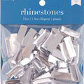 hildie & jo 75 pk Rectangle Plastic Crystal Flat Back Rhinestones