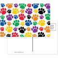 Colorful Paw Prints Postcards, 4\u0022 x 6\u0022, 30 Per Pack, 6 Packs