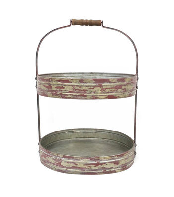 Camp Ann Galvanized 2-tiered Tray