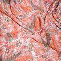 Fast Fashion Yoryu Chiffon Fabric-Coral Paisley