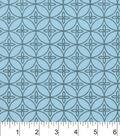 Snuggle Flannel Fabric -Aqua Haze Floral Geo