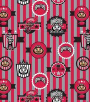 Ohio State University Buckeyes Velour Fabric -Logo, , hi-res