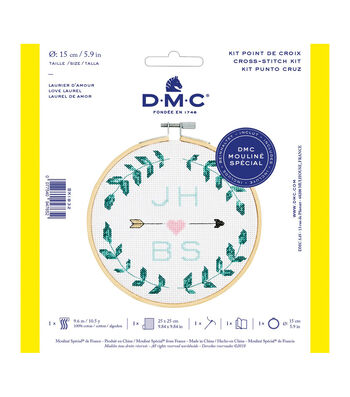 DMC Mouline Special 14-count Cross Stitch Kit-Love Laurel