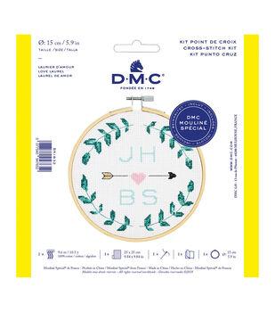 DMC Mouline Special 14-count Cross Stitch Kit-Love Laurel