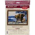 Elephants In The Savannah Counted Stitch Kit-15.75\u0022X11.75\u0022 14 Count