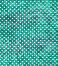 Quilter\u0027s Flannel Fabric-Dots on Teal