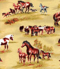 Snuggle Flannel Fabric-Wild Horses