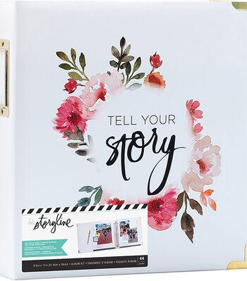 Heidi Swapp Storyline2 D-Ring Album-Floral on White