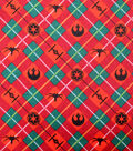 Disney Christmas Star Wars Flannel Fabric-Holiday Plaid
