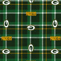 Green Bay Packers Flannel Fabric 42\u0022 - Plaid