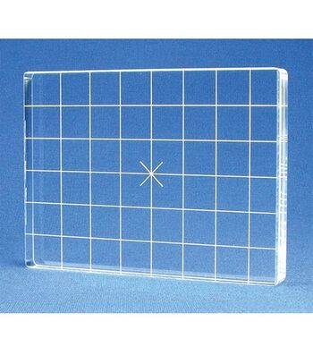 Acrylic Stamp Block W/Alignment Grid 3X4-3x4x.5