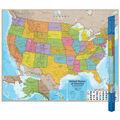 Round World Products Hemispheres Series USA Wall Map, 38\u0022x48\u0022, Pack of 2