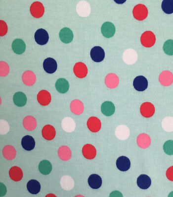 Doodles Juvenile Apparel Fabric 57''-Dots on Aqua