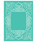 Cricut Cuttlebug Anna Griffin Calligraphy Frame 5x7 Embossing Folder