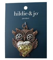 hildie & jo Gear Owl Pendant, , hi-res