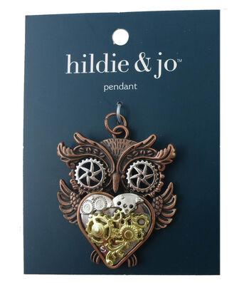 hildie & jo Gear Owl Pendant