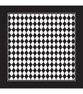 Carolina Domestic Bandanna 22\u0022X22\u0022-Black/White Diamond