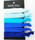 hildie & jo 6 pk Polyester Hair Ties-Blue Tones
