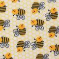 Blizzard Fleece Fabric-Tossed Bees
