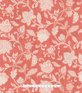 Waverly Upholstery Fabric 54\u0027\u0027-Stencil Vine on Coral
