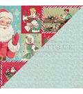 Jingle Double-Sided Cardstock 12\u0022X12\u0022-#8 Retro Image Cut-Aparts