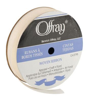 Offray Chiffon Ribbon-Cream