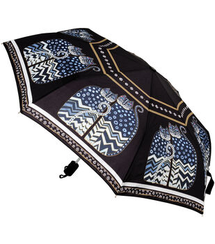 Laurel Burch Compact Umbrella-Polka Dot Cats