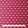 Cotton Shirting Fabric 57\u0027\u0027-Dogs on Burgundy