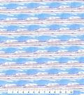 Kathy Davis Linen Look Apparel Fabric -Blue Waves