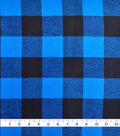 Shirting Cotton Fabric 44\u0027\u0027-Blue & Black Buffalo Check