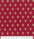 Patriotic Cotton Fabric 43\u0027\u0027-Rustic Stars on Red