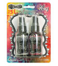 Dylusions Ink Spray 2 Pack-Pomegranate & Grey