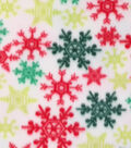Anti-Pill Fleece Fabric 59\u0022-Bright Snowflakes