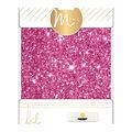 Heidi Swapp Minc Glitter Sheets 6\u0022X8\u0022 4/Pkg-Pink