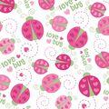 Nursery Flannel Fabric -Love Bug Toss