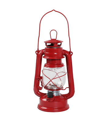 Camp Ann LED Lantern with Handle-Red