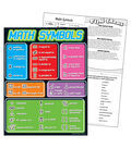 Math Symbols Learning Chart 17\u0022x22\u0022 6pk