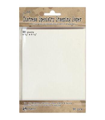 "Tim Holtz Distress Specialty Stamping Paper 20/Pkg-4.25""X5.5"""