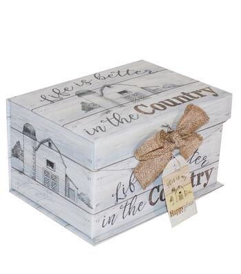 Organizing Essentials Small Fliptop Storage Box-Farmhouse Sentiments 2